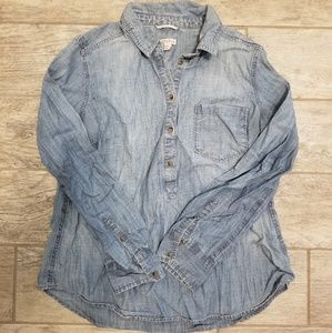 Merona Button Down Chambray/Denim Top